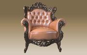 Finlandia мягкие диваны кресла с дерева и кожи .Резьба дерева ручной р