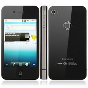 iPhone 4S W008 Android 2.2 Емкостной экран 2Sim+ Wi-Fi+GPS
