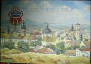 Картина маслом осень 1939 г. вид львова