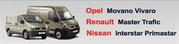 Запчастини Renault Master Trafic Opel Movano Vivaro Nissan Interstar (