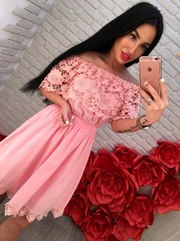 Новое летнее платье хб+ красивое кружево