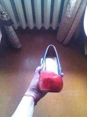 Продам синие-красные туфли б.у не дорого-дёшево!