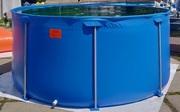 Каркасный бассейн для разведения товарной рыбы