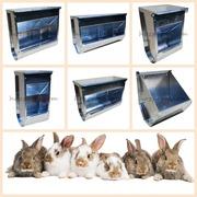 Безпечні багатосекційні годівниці для кроликів